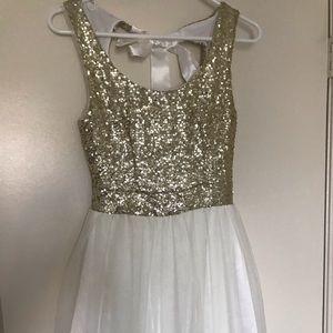 B.Darlin Gold sequin dress